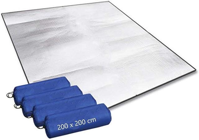 WATERPROOF THERMAL FOIL FOAM BACKED CAMPING BLANKET//SLEEPING MAT 200x200