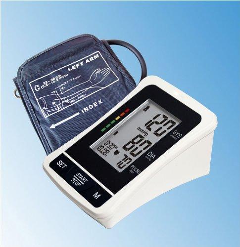 Lotfancy® Bras numérique Tensiomètre 120 Mémoire 4 Groupe, Irregular Heart Beat Detector, Lcd Jumbo