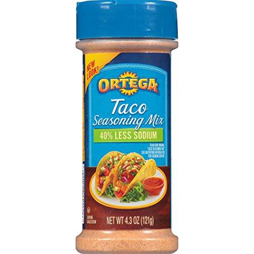 (Ortega Seasoning Mix, 40% Less Sodium Taco, 4.3 Ounce)