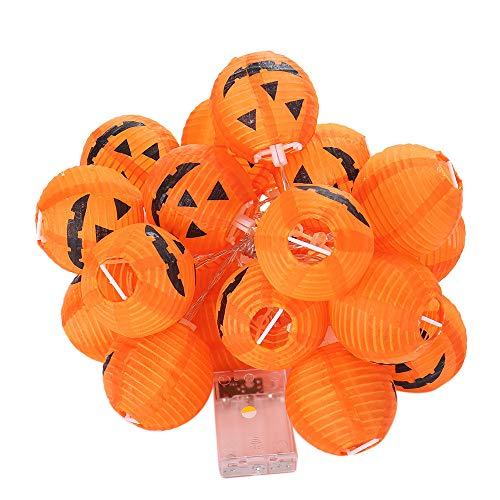 JPJ(TM) New❤️String Lights❤️1Pcs Halloween Hot Fashion Pumpkin String Lights Decoration Lights with 20 Led Beads (Yellow)