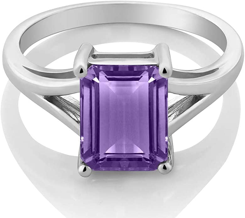 Details about  /Square Cut Amethyst Gemstone 925 Sterling Silver Statement Ring