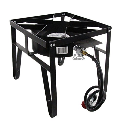 Cheap Single High Pressure Gas Burner Square Patio Outdoor Stove Propane Camping Heavy Duty