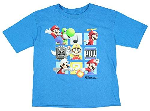 Nintendo Super Mario Maker Box Short Sleeve Graphic Shirt (X-Large 14/16)