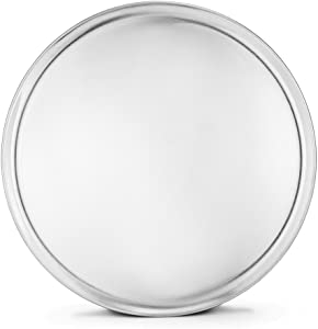 New Star Foodservice 51056 Pizza Pan/Tray, Coupe Style, Aluminum, 18 inch, Pack of 6