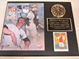 Yankees Thurman Munson Collectors Clock Plaque w/8x10 Photo and Card