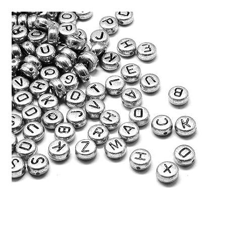 Mix Acryl Würfel Buchstaben Spacer Perlen Beads Basteln 6x6mm LP