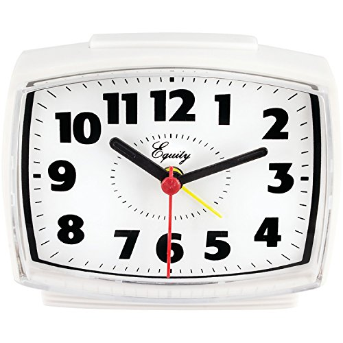 Equity by La Crosse 0 33100 Electric Alarm Clock with Lighted Dial, White ()