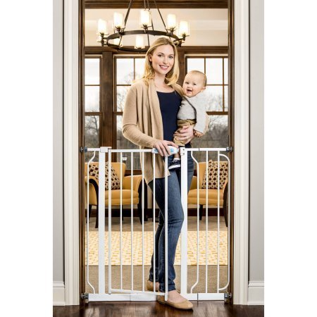 Regalo Extra Tall Walk Through Gate, Pressure Mount with Included Extension Kit Review