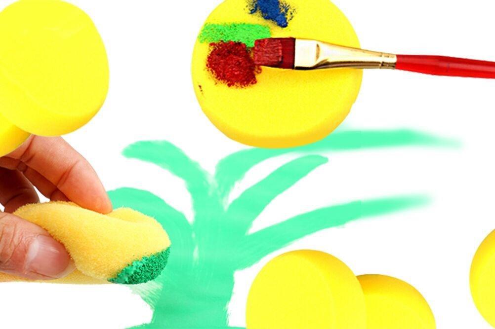 Pottery LIGONG 25 Pieces Paint Density Sponges Synthetic Artist Sponges Watercolor Sponges for Graffiti Painting Art Crafts