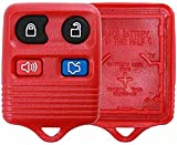 remote start 2003 ford escape - KeylessOption Just the Case Keyless Entry Remote Car Key Fob Shell Replacement- Red
