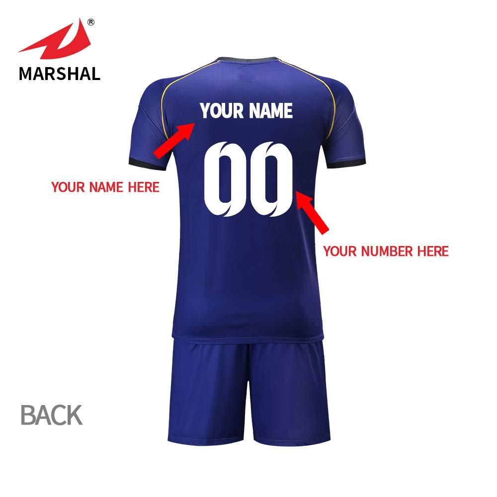 4cccc523297 ZHOUKA personality soccer jerseys custom name team kit football uniform  dark blue shirt