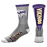 Minnesota Vikings For Bare Feet Cool Gray Jump Key Crew Socks