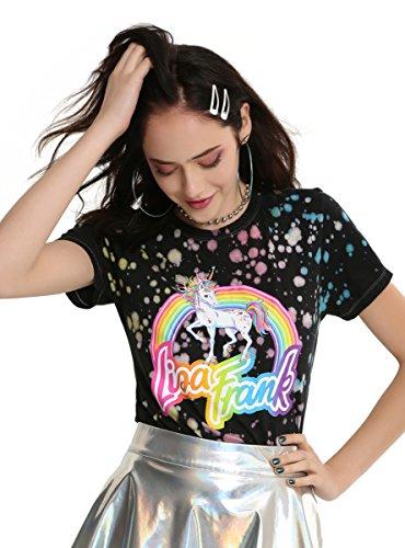 Hot Topic Lisa Frank Splatter Unicorn Girls T Shirt