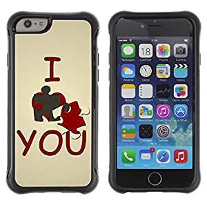 "Hypernova Defender Series TPU protection Cas Case Coque pour Apple Iphone 6 [Te amo lindo""]"