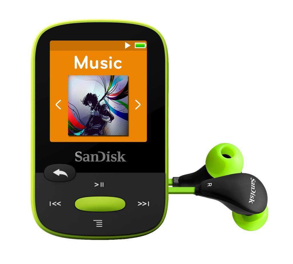 amazon com sandisk clip sport 8gb mp3 player lime with lcd screen rh amazon com SanDisk Sansa Clip Zip Accessories SanDisk Clip Zip Help