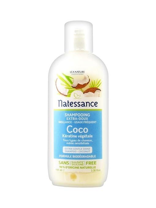 Natessance Champú Coco y Botanical queratina 100 ml