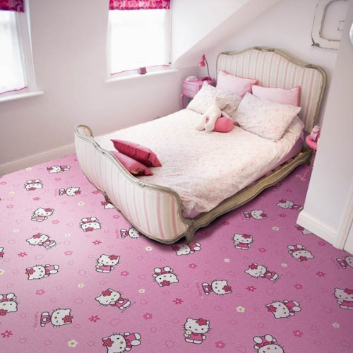 Kinder Teppichboden Sanrio Hello Kitty rosa Auslegware Kinder ...