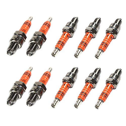Wings Spark Plug A7TC A7TJC 3 Electrode GY6 50-125cc Moped Scooter ATV Quads Hot Sale Pack of 10 Wingsmoto