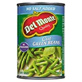 Del Monte Cut Green Beans No Salt Added, 398 ml, Pack of 12