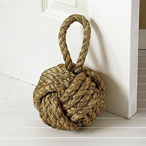 Fist Rope Monkey - Marseille Monkey Knot Jute Rope Door Stopper ( 4.1 lbs ) - Jute