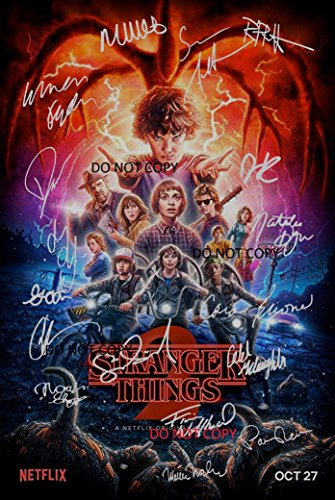 Stranger Things Season 2 CAST Reprint SIGNED 12x18