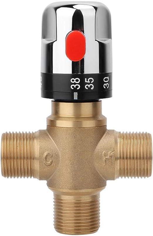 V/álvula termost/ática de Mezcla Lat/ón V/álvula mezcladora termost/ática Temperatura del Agua Tuber/ía Cuenca Termostato Control Conectar Agua fr/ía y Caliente