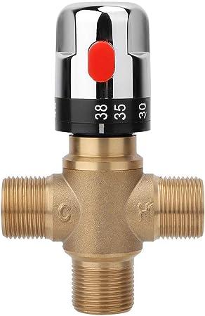 V/álvula termost/ática v/álvula de Mezcla termost/ática de lat/ón Temperatura del Agua Tubo de la Cuenca Control del termostato