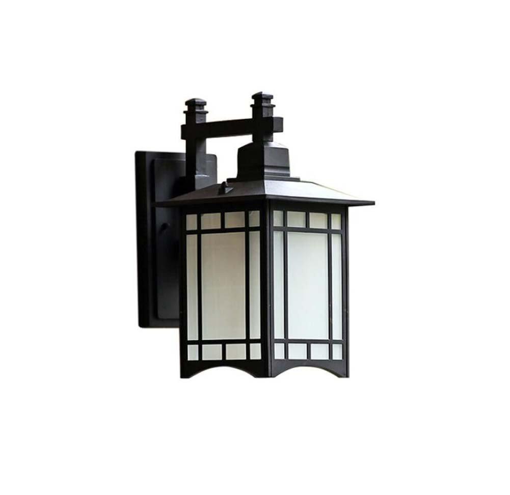 Applique da parete per esterni, applique da parete a LED impermeabile, retro antico applique da parete in alluminio, applique da balcone in vetro, villa, cortile, corridoio E27 GAOLIQIN