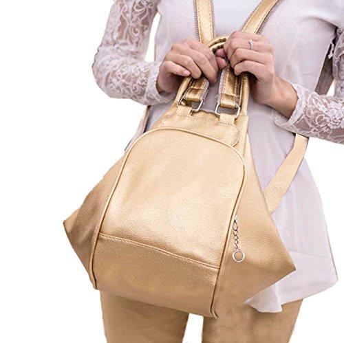 Deal Especial - Bolso mochila  de Piel Vuelta para mujer multicolor multicolor talla única dorado