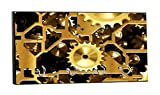 Steampunk Gears Flat Print Design - 5'' by 11'' Key Hanger Household Decoration with Four Hooks
