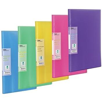 Pentel Recycology Vivid - Funda plástica archivadora con camisas (5 unidades), varios colores: Amazon.es: Oficina y papelería