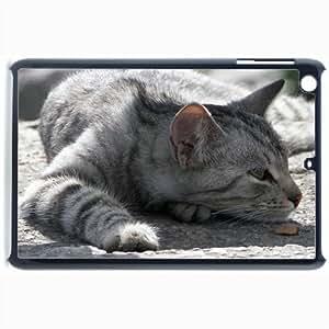 Customized Back Cover Case For iPad Mini 2 Hardshell Case, Black Back Cover Design Cat Personalized Unique Case For iPad Mini 2 wangjiang maoyi