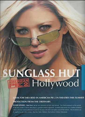 **PRINT AD** With Tara Reid For 2001 Sunglass Hut & American Pie 2 - Hut American
