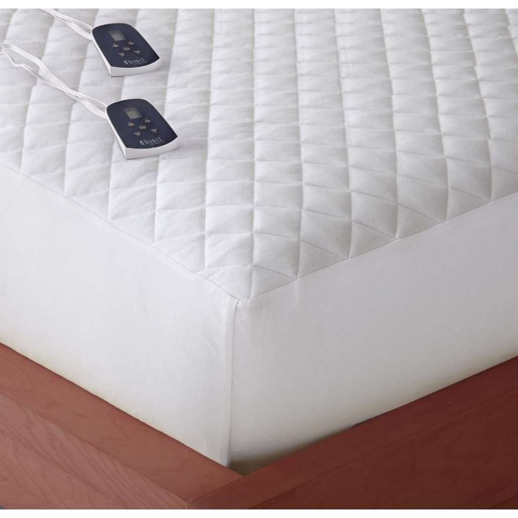 Shavel Home Products Micro Flannel Electric Mattress Pad Queen
