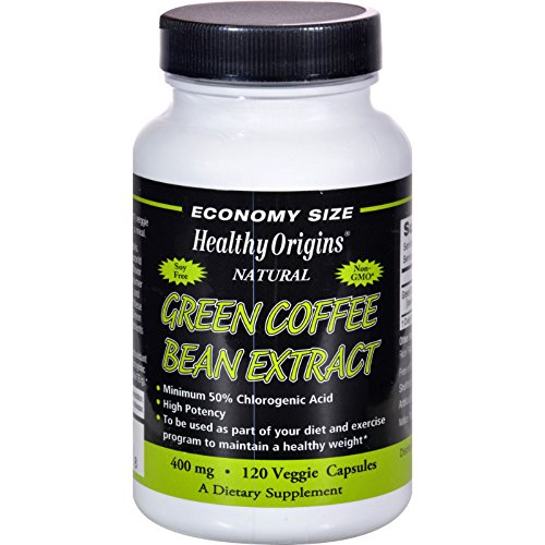 Healthy Origins Green Coffee Bean Extract 400 mg - 120 Vcaps (Pack of 2) by Healthy Origins