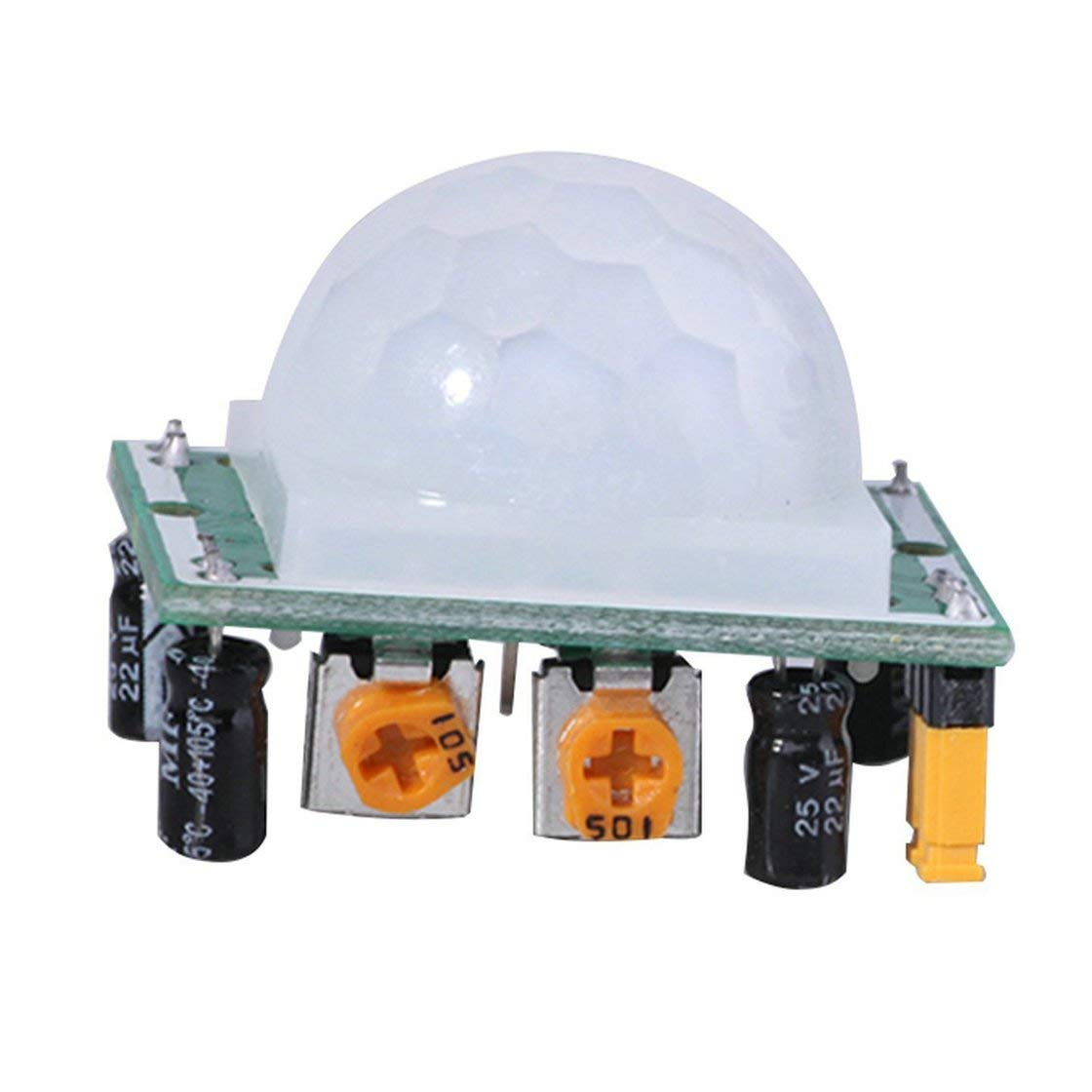 HC-SR501 Ajuste Pyroelectric IR PIR Junta de M/ódulo de Sensor de Cuerpo de Sensor de Movimiento por Reflexi/ón Infrarrojo Detecci/ón Humana para Arduino DIY