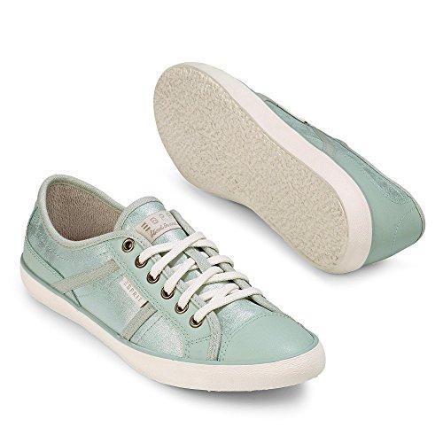 ... Minze ESPRIT 016EK1W004 340 Megina Lace up Damen Sneaker Schnürung  Flexible Laufsohle, Groesse 36, Minze