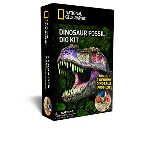 NATIONAL GEOGRAPHIC Dino Fossil Dig Kit – Excavate 3 real fossils including Dinosaur Bones & Mosasaur Teeth - Great Jurassic Science gift for Paleontology and Archeology enthusiasts of any age for $<!--$9.99-->