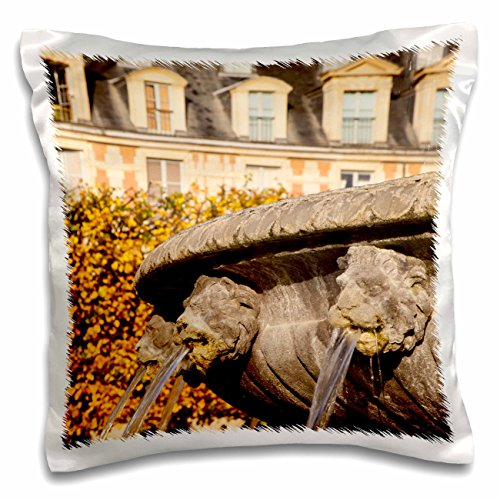 Danita Delimont - Paris - Lion Heads fountain, Place des Vosges, Paris France - EU09 BJN0678 - Brian Jannsen - 16x16 inch Pillow Case (pc_136364_1)