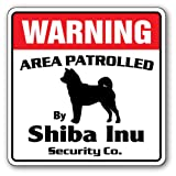 Shiba Inu Security Sign | Indoor/Outdoor | Funny Home Décor for Garages, Living Rooms, Bedroom, Offices | SignMission Gift Animal Kennel Boarder Sign Wall Plaque Decoration