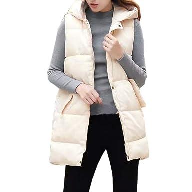 Makeupstore Sweaters Women Plus Size, Fashion Womens Hooded Down Vest Outdoor Vest Jacket Pocket Coat