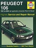 Peugeot 106 Petrol and Diesel Service and Repair Manual: 1991 to 2004 (Haynes Service and Repair Manuals) by Coombs. Mark ( 2006 ) Hardcover