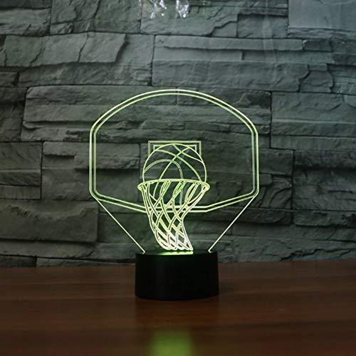 Zonxn 7 Color Changing Led Nightlight Kids USB 3D Basketball Backboard Shape Table Lamp Baby Sleep Lighting Bedside Lampara Decor Gift