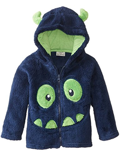 Boys Halloween Costume Monster Ghost Smiley Face Fleece Hoodies Coat Sets 6-12Mon (80, Blue)