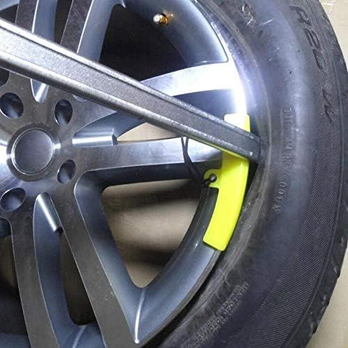 DeemoShop 5Pcs Rubber Tire Changer Guard Rim Protector Wheel Changing Rim Edge Savers Tools Yellow Car Wheels Tires Repair Accessories Hot