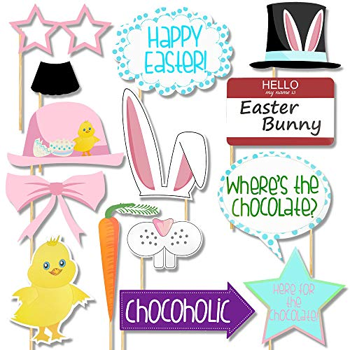 Easter Photo Booth Props - Easter Party Decoration,