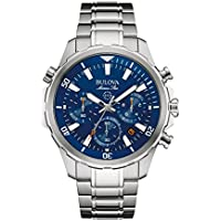 Bulova Men's Quartz Stainless Steel Dress Watch (Model: 96B256)