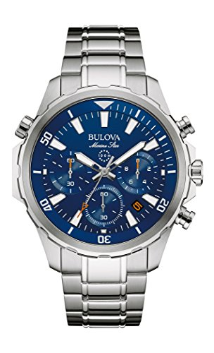 Bulova Men's Quartz Stainless Steel Dress Watch (Model: - Watch Steel Marine Wrist Stainless