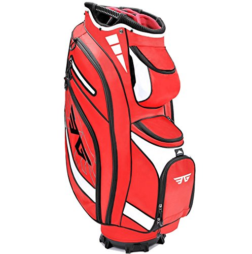 (Eagole Super Light Golf Cart Bag,14 Way Full Length Divider,9 Pockets (Red))