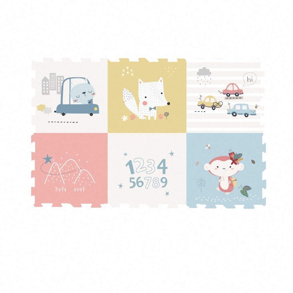 Dceer Stuoia strisciante per cucire tappetino attività bambino 6 pezzi (colore   B, dimensioni   117cmX172X2cm)